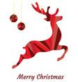 mosaic reindeer vector image vector image