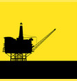 offshore refinery vector image