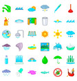 plumber icons set cartoon style vector image vector image