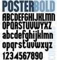Poster Bold Classic style font vector image vector image