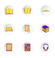 Reading icons set cartoon style vector image vector image
