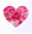 Red heart on light purple EPS 10 vector image