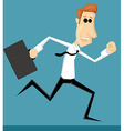 Running cartoon office worker vector image vector image