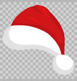 santa hat on transparent background vector image