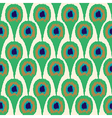 Seamless ornament pattern peacock vector image