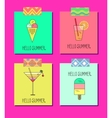 set of bright summer cards vector image vector image