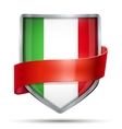 Shield with flag Italy and ribbon vector image vector image