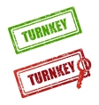 stamp turnkey vector image vector image
