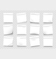 sticky notes white notepad sheets with crumpled vector image vector image