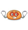super hero hamburger bun character cartoon vector image