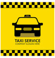taxi icon taxi service black taxi car yellow vector image