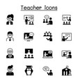 teacher icons set graphic design vector image