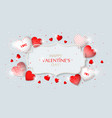 this is valentine s day frame with hearts vector image vector image