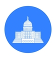 United States Capitol icon in black style isolated vector image