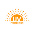 uv protection icon isolated anti sun vector image vector image
