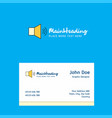 volume logo design with business card template vector image