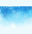 watercolor blue sky with falling snow background vector image vector image