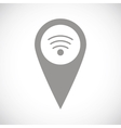 Wi-fi pointer black icon vector image vector image