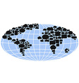 world map filled with speech bubbles vector image vector image