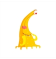 Yellow Childish Monster With Many Legs vector image vector image