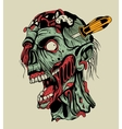 Zombie head with a screwdriver vector image vector image