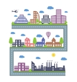 City Skylines Landscape constructor icons set vector image
