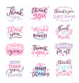 thank you card text logo letter script vector image