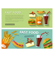 fast food eat vector image