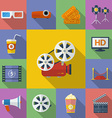 Set of Cinema Movie icons Flat style vector image