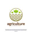 agriculture logo concept nature farm logo design vector image vector image