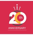 anniversary icon with abstract elements vector image vector image