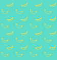 banana fruit brush seamless pattern vector image vector image