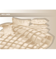 bed and linen vector image vector image