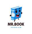 book thump up mascot character logo icon vector image vector image