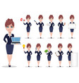 businesswoman cartoon character set vector image vector image