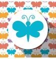 Butterfly cute cartoon graphic vector image vector image