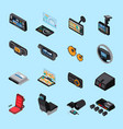 car electronics icons set vector image vector image