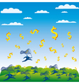 catch the money concept vector image vector image