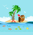 christmas on a tropical island travel concept vector image vector image