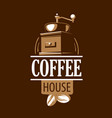 coffee logo on brown vector image