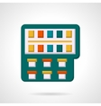 Colorful paintbox flat icon vector image