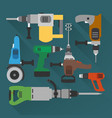 concept builders tools modern flat background vector image vector image