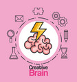 creative brain idea innovation brainstorm mind vector image