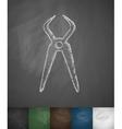 dental pliers icon vector image vector image