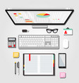 desktop workspace graphic vector image