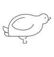 dovequail line icon sign on vector image vector image