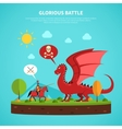 Dragon knight legend flat vector image vector image