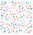 festive pattern with paint splashes and glitter vector image