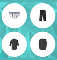 flat icon garment set of uniform underclothes vector image