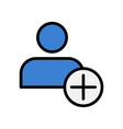flat icon of add friend adding user symbol vector image vector image